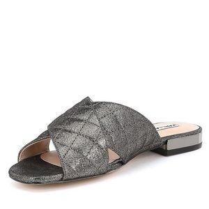 Karl Lagerfeld Paris Metallic Sandals slide size 6